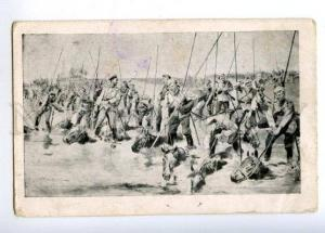 169940 WWI Russia Cossacks in East Prussia Vintage LEONTIEV PC