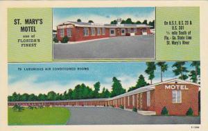 Florida Hilliard Saint Marys Motel 1955