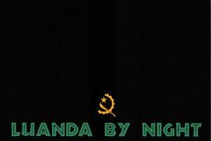 NEW Fun Africa Postcard, Luanda, Angola by Night, Graphic, Black & White EP8