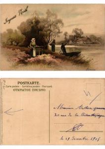 CPA Frohes Schaffen in freier Natur Meissner & Buch Litho Serie 1355 (730485)