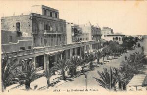 Tunisia Sfax le Boulevard de France Esplanade Postcard