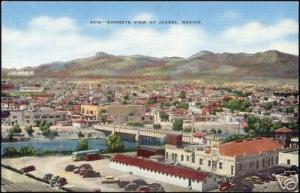 mexico, JUAREZ, Birdseye View (ca. 1940)