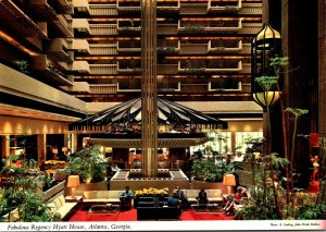 Georgia Atlanta Regency Hyatt House Hotel Lobby