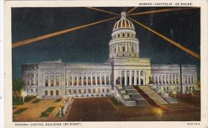 Cuba Havana Capitol Building By Night