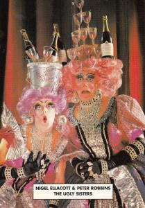 Nigel Allacott Peter Robbins The Ugly Sisters Drag Queen Large Hand Signed Photo