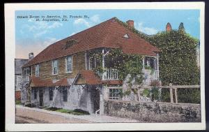 Oldest House St Augustine FL unused c1915