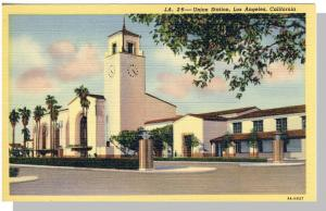 Los Angeles, California/CA Postcard, Union Station