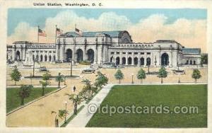 Union Station, Washington DC, USA Train Railroad Station Depot Post Card Post...