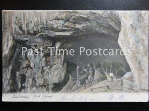 Derbyshire CASTLETON PEAK CAVERN or Devil's Arse - Troglodytes Rope Making c1904
