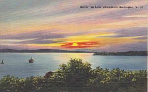 Sunset on Lake Champlain Burlington Vermont