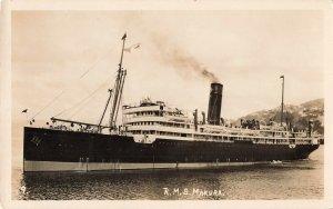 Postcard RPPC RMS Makura Passenger Ship New Zealand Unposted PC5.
