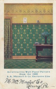 ADV: Attractive Wall Paper Pattern from 1909 S.A. Maxwell & Co. Exclusive Line