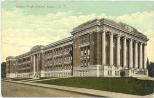 Albany High School (Side View), Albany, New York, PU-1915