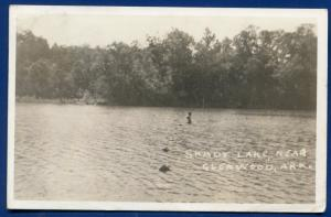 Glenwood Arkansas ar Shady Lake real photo postcard RPPC