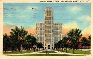 New York Albany Governor Alfred E Smith Office Building 1948 Curteich