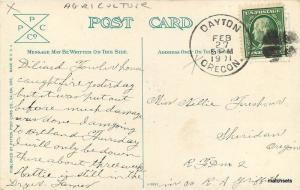 c1910 Agriculture Farming Cherry Orchard Oregon Patton postcard 9545