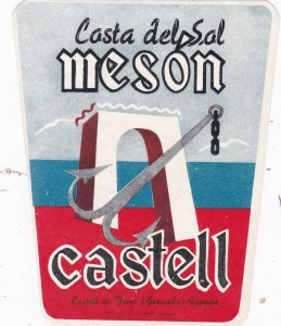 Spain Castell Casta del Sal Meson Luggage Label sk4560