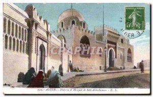 Old Postcard Algeria ALGIERS Madrasa and Mosque of Sidi Abderbaman