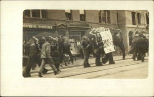 Circus Elephants Parade Unidentified c1910 Real Photo Postcard #1