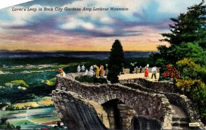 Tennessee Lover's Leap In Rock City Gardens Atop Lookout Mountain