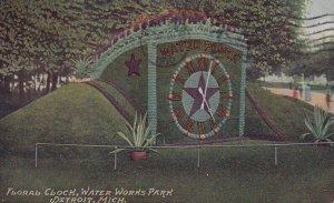 DETROIT, Michigan, PU-1910; Floral Clock, Water Works Park