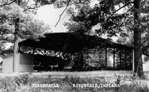 Rivervale Indiana~United Methodist Camp Open Air Tabernacle~1950 RPPC