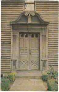 Front Door, Stockbridge Mission House, Massachusetts, unused Postcard