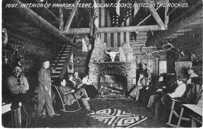 Interior of Pahaska Teepe, Col. W. F. Cody's Hotel in the Rockies