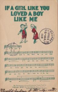 Song Card If A Girl Like You Loved A Boy Like Me 1908