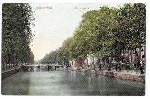 Netherlands Holland Amsterdam Keizersgracht Canal Postcard