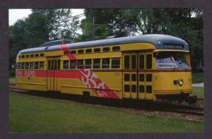 OH Cleveland RTA PCC Rapid Transit System Trolley car Streetcar OHIO Postcard