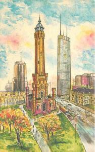 Artist impression 1960s Chicago Illinois North Michigan Avenue Joboul 77