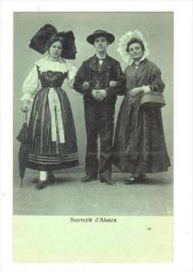 Alsacienne man & two girls, France, 00-10s