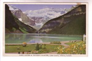 Flowers, Lake Louise, Victoria Glacier, Lake Louise, Alberta, Associated Scre...