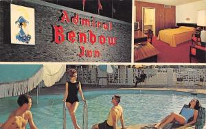Chattanooga Tennessee~Admiral Benbow Inn~Bathing Beauties~1950s Postcard