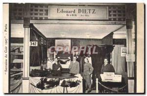 Old Postcard Leather Week 1927 Paris Edouard Dietz Lower Rhine Tannery