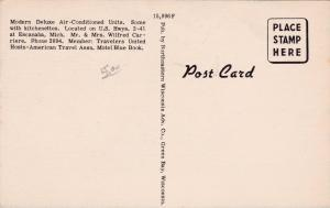 ESCANABA, Michigan, 1930-1940's; Memory Lane Motel, U.S. Highways 2-41