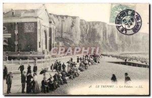 Treport - Cliffs - Old Postcard