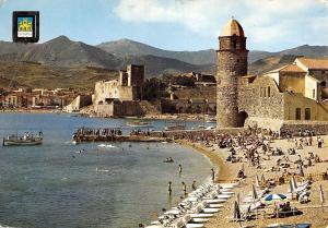 France Cote Vermeille Collioure La plage l'Eglise Le Chateau des Templiers