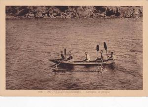 Native men in canoe , New Herbies (Vanuatu) , 00-10s #1