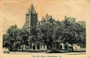 Canada Saskatchewan City Hall Regina Postcard