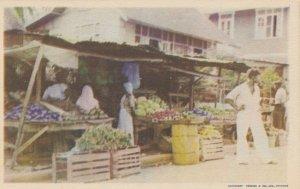 TRINIDAD, B.W.I., 1930s ; Fruit Stands