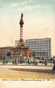 Cleveland Ohio~Soldiers & Sailors Civil War Monument~Cobblestone St~'08 Postcard