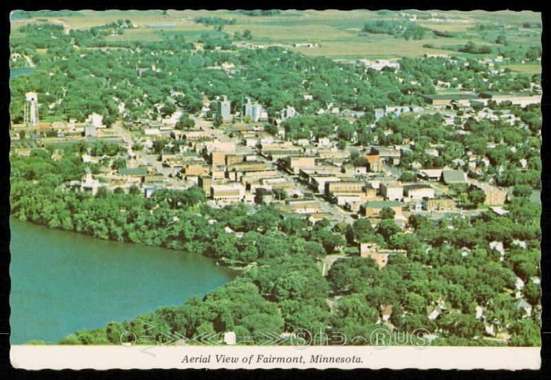 Aerial view of Fairmont, Minnesota