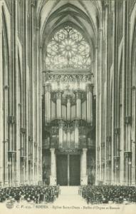 France, Rouen, Eglise Saint-Ouen, Buffet d'Orgue et Rosac...