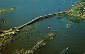 Maine Aerial View Bailey Island Bridge