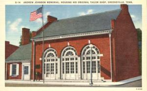 Andrew Johnson Memorial Original Tailor Shop - Greeneville TN Tennessee - Linen