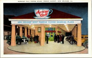 MORNING CALL COFFEE STAND - RESTAURANT - FRENCH - NEW ORLEANS, LA - POSTCARD
