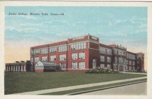 WICHITA FALLS , Texas , 1900-10s; Junior College