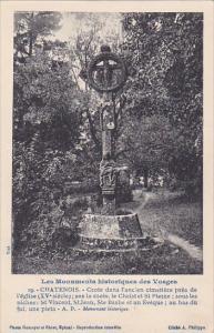 CHATENOIS, Vosges, France, 1900-1910's; Croix Dans L'Ancien Cimetiere Pres De...